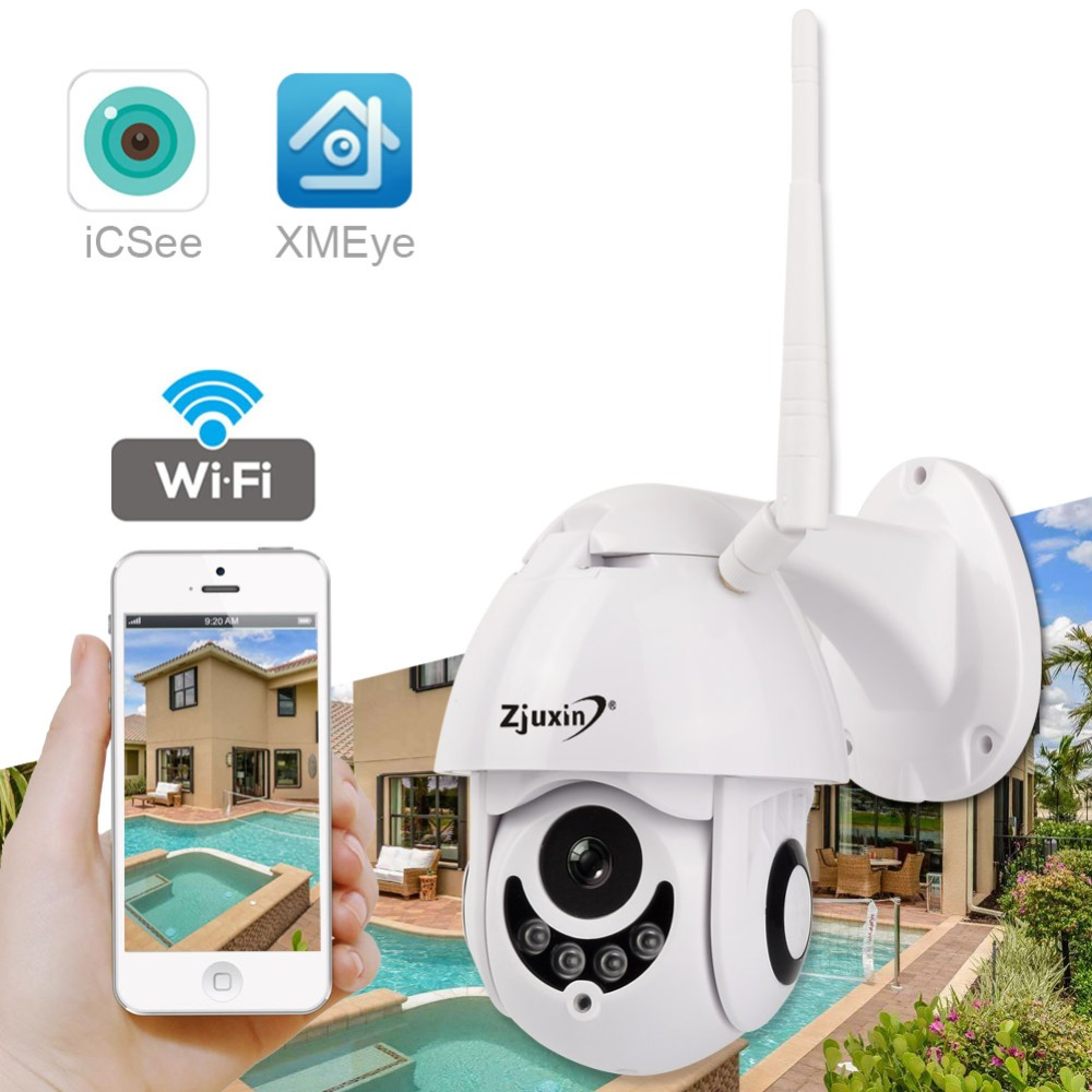 US $42 24 16% OFF PTZ IP Camera Outdoor 2MP 1080P HD Waterproof IP66 Mini  Speed Dome Camera IR P2P ONVIF Security Surveillance exterior vigilancia-in