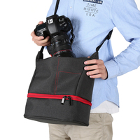 New Fashion Nylon Material Outdoor Photography DSLR SLR Camera Shoulder Bag Waterproof Abrasion Resistant Portable Multi