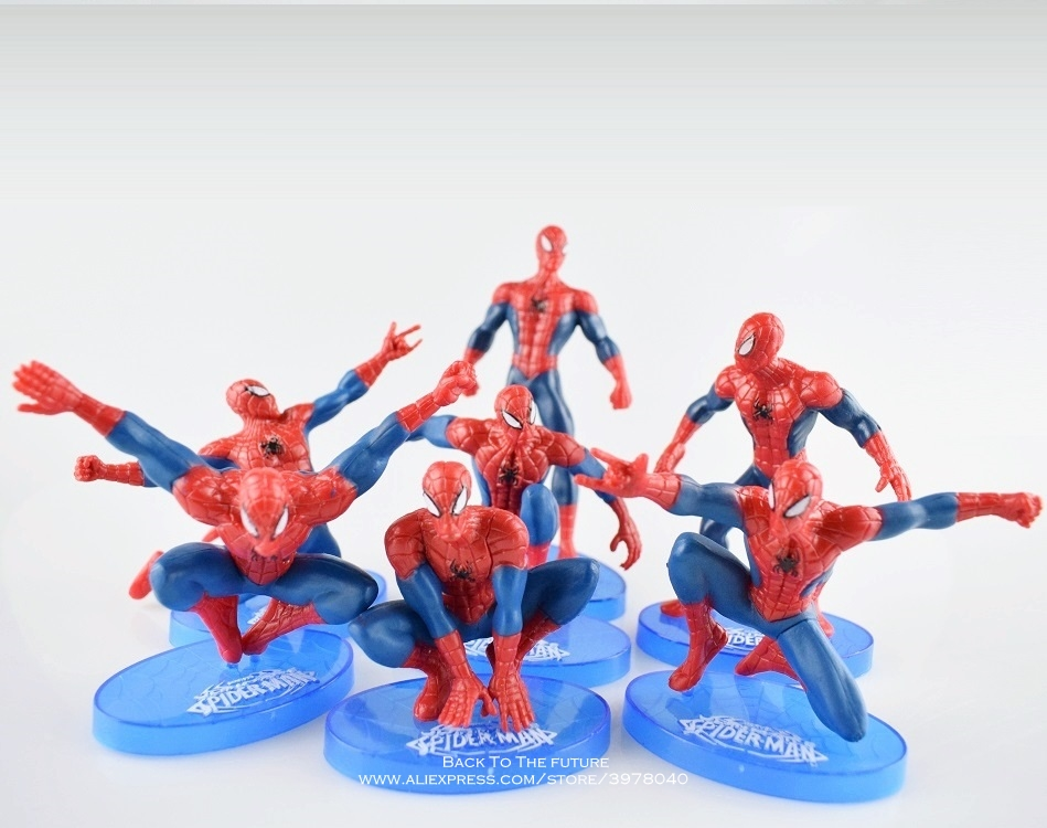 disney-font-b-marvel-b-font-avengers-spider-man-7pcs-set-11cm-action-figure-posture-model-anime-decoration-collection-figurine-toy-model-gift