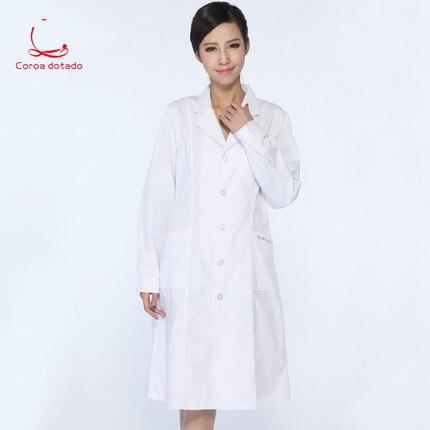 White Gown, Long Sleeve Doctor's Suit, Women's And Men's Experimental Suit, Doctor's Suit, Slimming Nurse's Uniform
