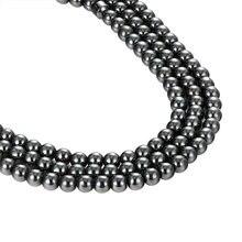 Джафар высокое качество 5A шарики для DIY черные камни браслет из бисера ожерелье аксессуары и украшения