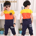 2017 Summer New Boys Clothes Suit Sailer Short-sleeved T-shirt Sports Leisure Pants Kids Clothing Set