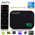 Envío gratis 8 GB Quad Core Inteligente Android TV BOX 1080 P Medios jugador xbmc kodi youtobe google wifi hdd player + control remoto