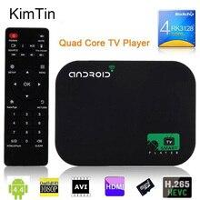 Livraison gratuite 8 GB Quad Core Android Smart TV BOX 1080 P Médias lecteur XBMC KODI YOUTOBE Google WIFI HDD lecteur + Télécommande