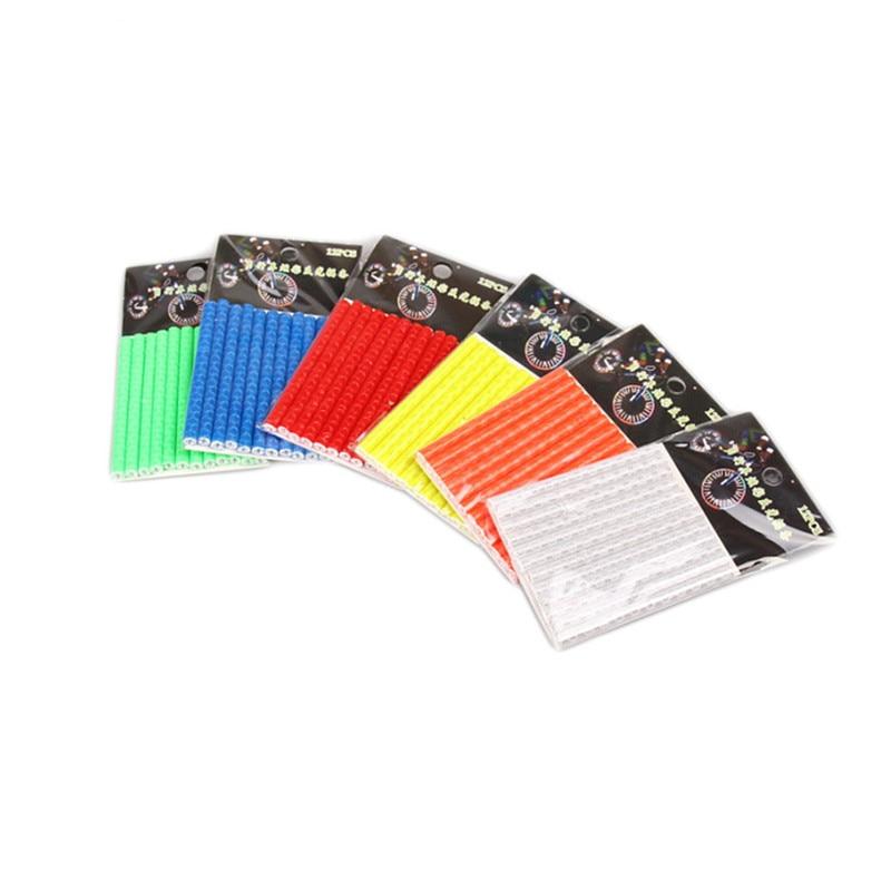 12 PCS / Bag Bike Riding Wheel Spokes Reflective Sticker Tube Warning Strip Cycling Reflector 7.5cm Bike Accessories