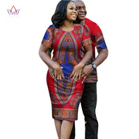 African Dresses for Women Couple Clothes for Lovers Short Sleeve Dashiki Men African Dresses for Women in African Clothing WYQ19