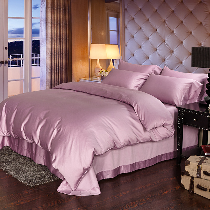 Luxury 100 Egyptian Cotton Bedding Sets Bed Sheets Taro