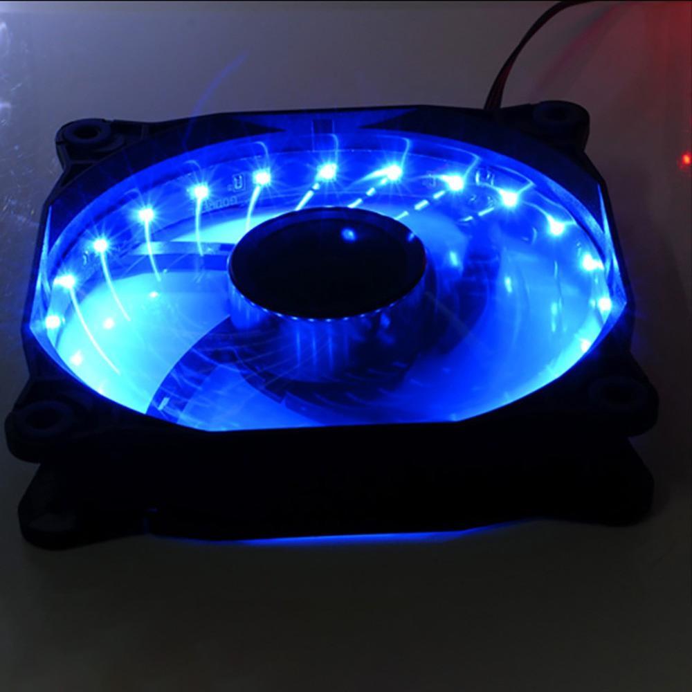 Image 3 - 16 дБ ПК компьютер ультра тихий 15 светодиодов корпус вентилятор Радиатор охлаждения ПК Вентилятор 120 мм, 12 см вентилятор, 12В DC 3 P IDE 4pin-in Охлаждающие подставки для ноутбука from Компьютер и офис