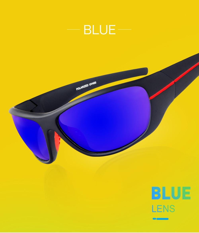 87fdba0d63 QUESHARK Sports Polarized Hiking Sunglasses Men TR90 Cycling Glasses ...