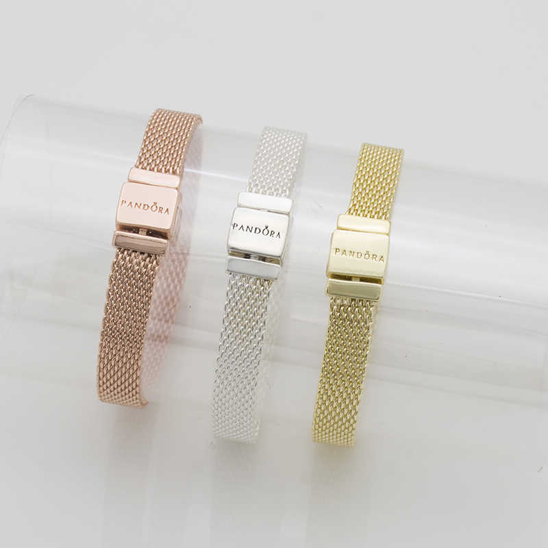 DIY jewelry accessories hgih quality  REFLEXIONS BRACELET silver plated chain width mesh chain 3color wholesale