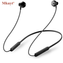 ФОТО mkuyt bluetooth earphone wireless neckband sport magnetic double battery bluetooth headphone headset stereo bass with mic music