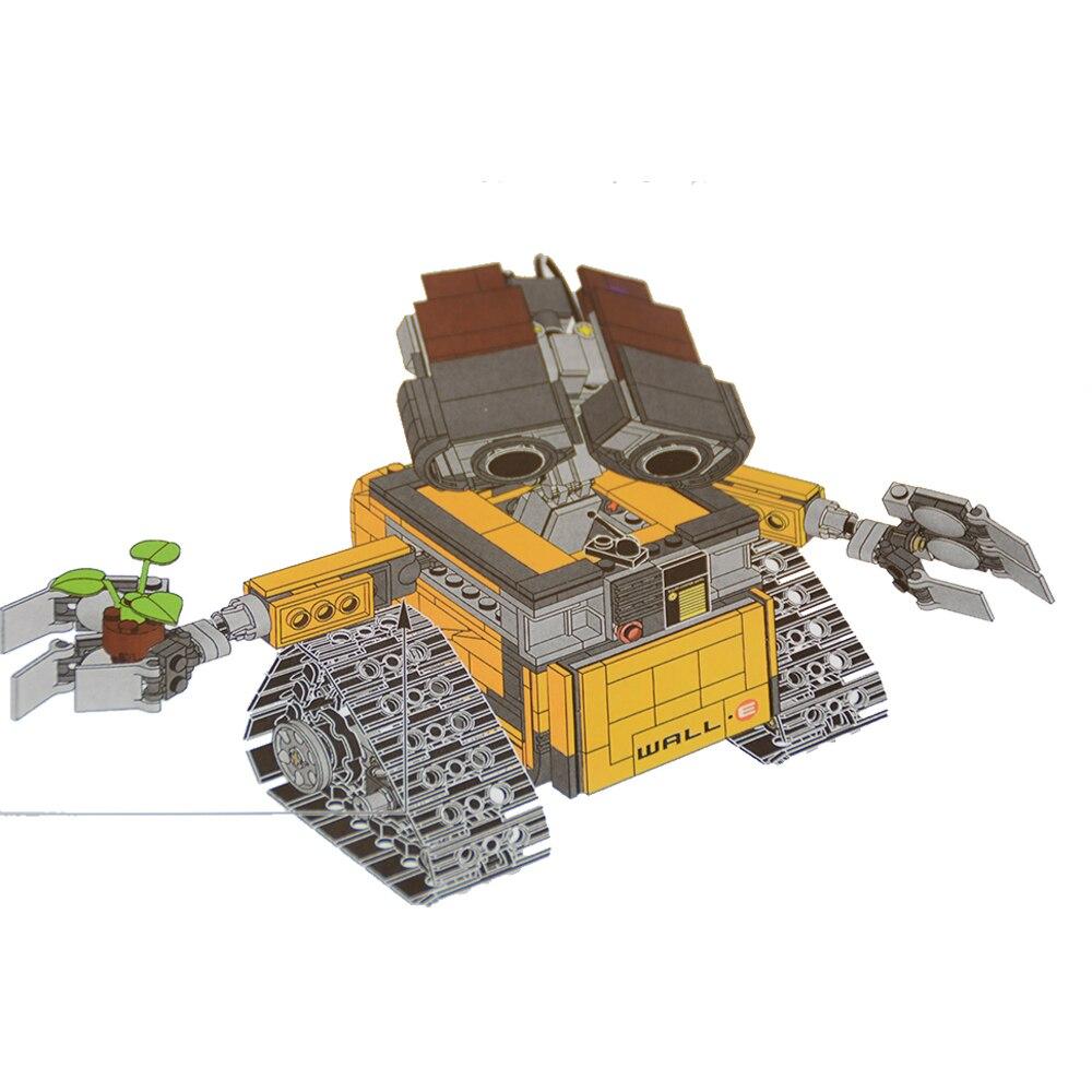 Blocks New 39023 687pcs Idea Robot Walle Model Building Led Light Kits Blocks Bricks Children Toys Compatible 21303 Kids Toys Christmas Toys & Hobbies