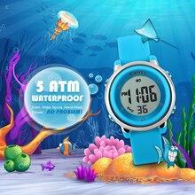 New Fashion Sports Children Watches Waterproof Alarm Watch Kids Back Light Calendar Digital