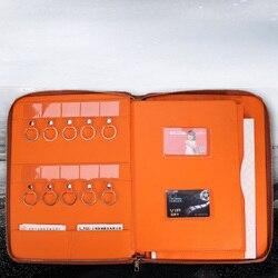 Многофункциональная сумка на молнии для документов формата А4, искусственная кожа, папка для документов, документов с ключом, держателей ка...