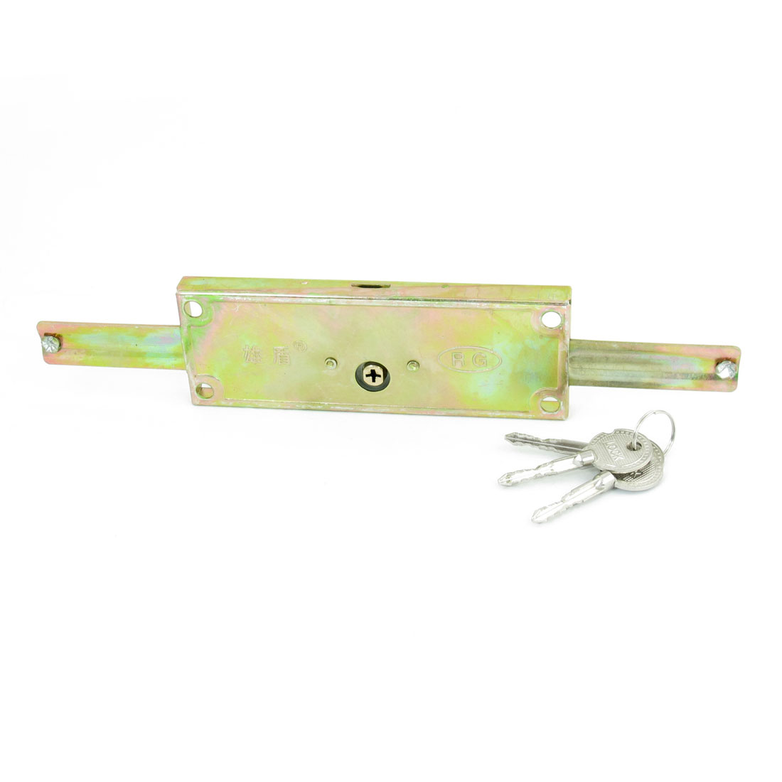 Home Garage Rolling Shutter Door Brass Tone Lock W <font><b>3</b></font> Pcs Cross Key Replacment