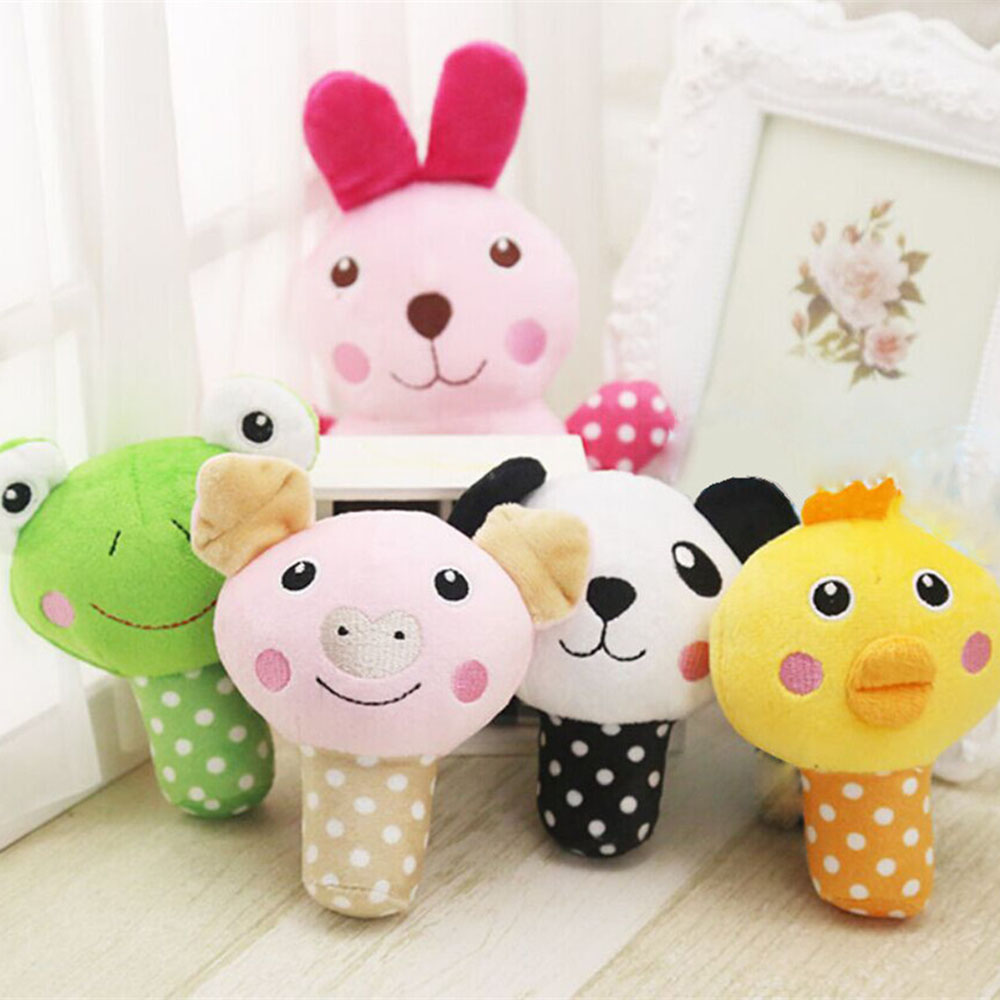 Dog Puppy Chew Toy Squeaky Plush Sound Cute Animal Design Toys Panda Pig #01
