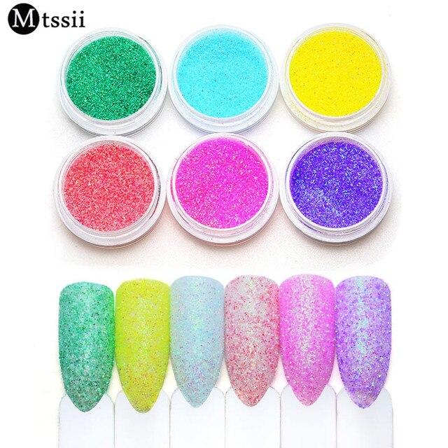 Mtssii 1 BOX Nail MAD Pastel Nail Glitter Nail Art Glitter Powder ...