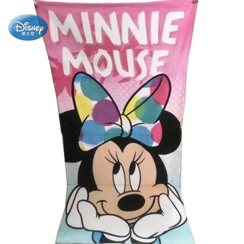 Disney Lovely Pink Cute Minnie Mouse Bath Towel 100% Cotton for Girls Lady Women Summer Beach Towel Pool Towel 70x140cm 1