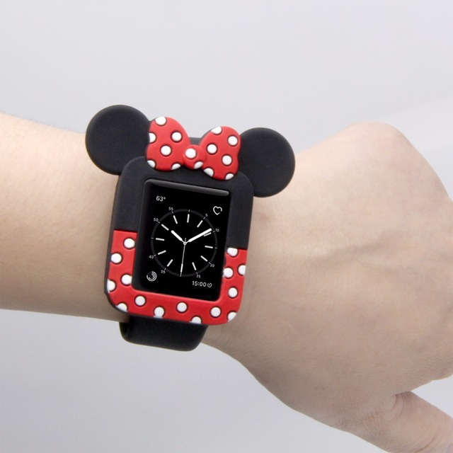 f6ff3bb51 NEW Watch Watchbands Soft Cases For iWatch Series 123 Cover For Apple Watch  38mm 42mm Cute Minnie Mouse cases