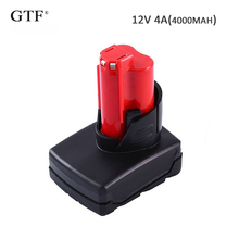 Rechargeable Batteries for Milwaukee 12V 4000mah 4Ah Li-Ion Replacement Battery For Milwaukee M12 Power Tool battery цена 2017