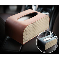 ZATOOTO Carbon Fiber Car Tissue Box Household Tissue Box Holder For Car Home Office Paper Towels