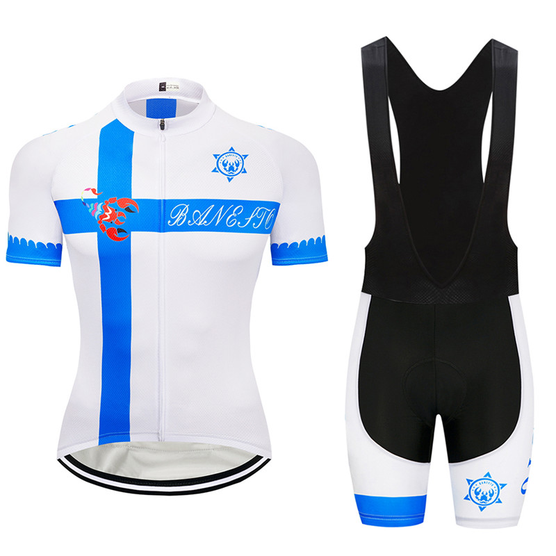 b2394458b 2018 seven-color scorpion is white blue Cycling Jersey 9D GEL Pad Bike  Shorts MTB Men s Cycling Clothing summer bike wear