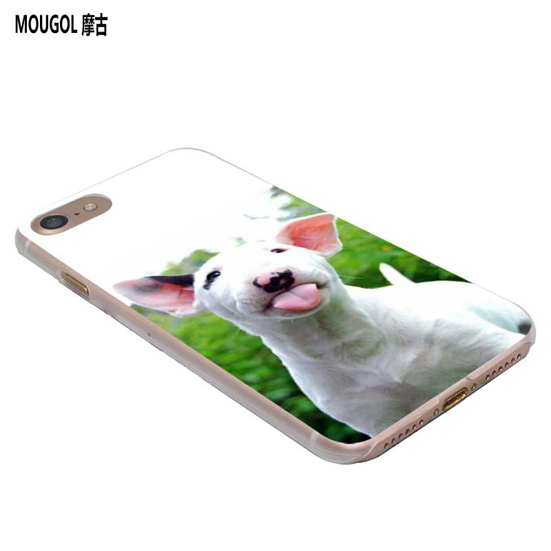MOUGOL Bullterrier bull terrier design transparent hard case cover for Apple iPhone X 8 5 5s SE 5C 6S 6Plus 7 7Plus 4S