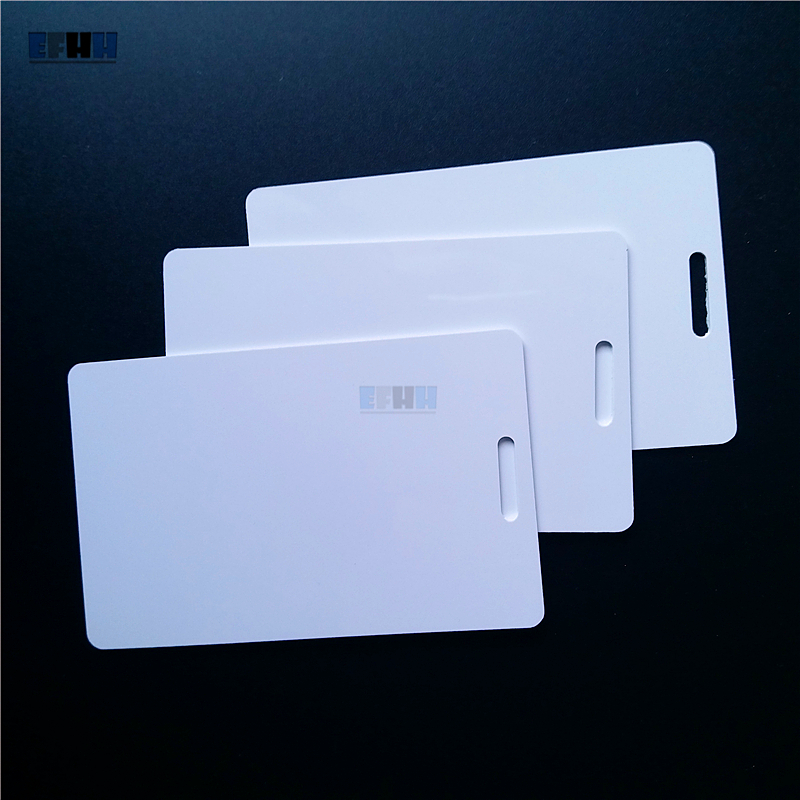 125KHZ TK4100 EM4100 Hole RFID Card Read Only ID Card In Access Control Card