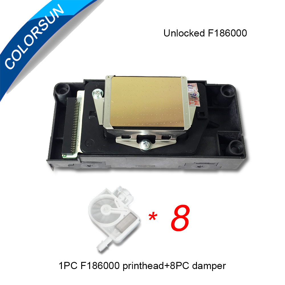 Colorsun Original unlock DX5 F186000 F186010 printhead for Mimaki JV33 RJ900 VJ1604 DX5 print head for Epson 4880 R2000 DX5 head