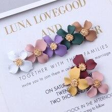10pcs/lot Rubber Paint Butterfly Flower Charms Earring DIY Alloy Pendant Flowers Enamel Charm Bracelet Jewelry Accessory YZ126