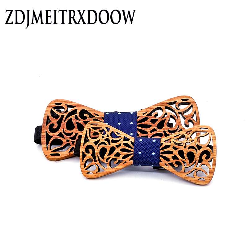 ZDJMEITRXDOOW Cute Kids Boys Wood Bow Tie Children Butterfly Type Bow Ties Girl Boys Wooden Bow Ties For Men Set 2 Pcs
