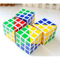Mini Magic Toys Cube 3x3x3 Speed Cube Pyramid Color Puzzle Cubo Magico Toys For Children Learning