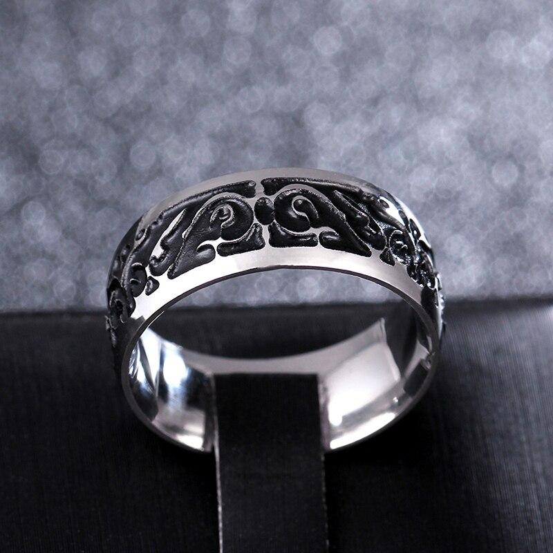 Купить на aliexpress Титановый V65 винтажный декоративный узор кольцо из нержавеющей стали кольца для женские обручальные кольца ювелирные изделия