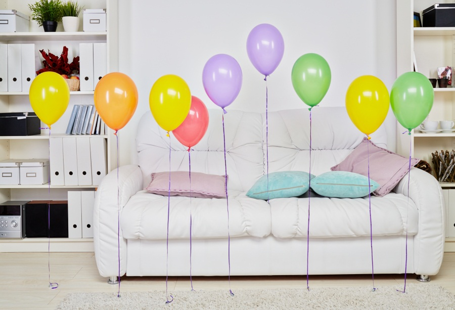 Laeacco Balloons Decor Living Room Interior Photo Backgrounds Customized Vinyl Digital Photography Backdrops For Photo Studio interior design