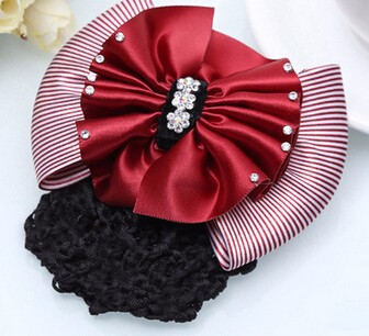 Free Shipping Women hairbands rhinestone for work girl s solid Bow ... a48658095e3d