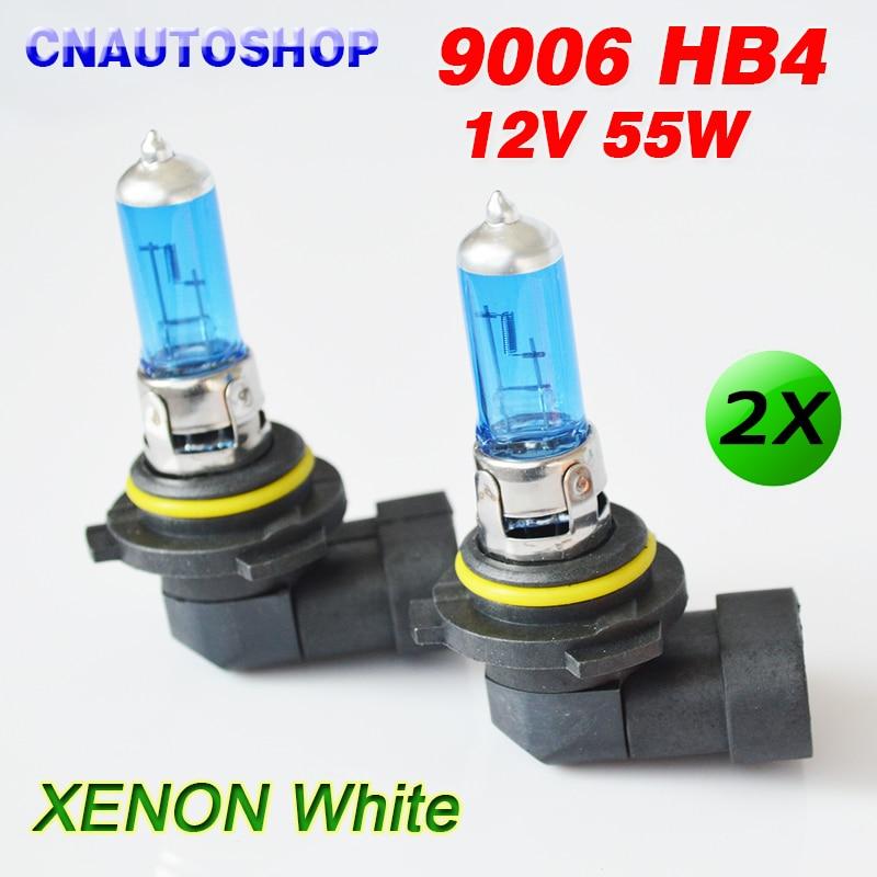 9006 HB4 Halogen Bulb 12V 55W Auto Headlight Lamp Car Dark Blue Glass Super White 2 PCS napapijri guji check dark blue