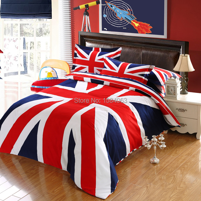 Reino unido flag inglés juego de cama king size, londres British