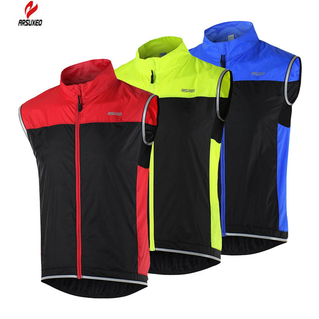 660e673756a53 ARSUXEO Men s shorts Jacket Lightweight Sleeveless Coat Jacket Running Cycling  Bicycle Vest Windproof Roupa Ropa ciclismo