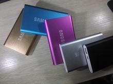 Nueva Llegada 5 Colores ultra-delgada 20000 mAh Polymer Banco Móvil Portable Del Cargador de Batería Externa Para El Iphone Para SAMSUNG