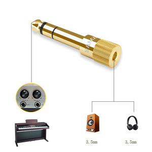 """Image 4 - SAMZHE Audio Adapter 6.5mm 1/4"""" Male plug to 3.5mm 1/8"""" Female Jack Stereo Headphone Headset Plug for Microphone Electric Piano"""