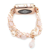 Fashion Women Agate Beads Handmade Jewelry Bracelet for Apple Watch 38mm 42mm Band for iWatch 40mm 44mm Series 1 2 3 4 Bracelet(China)