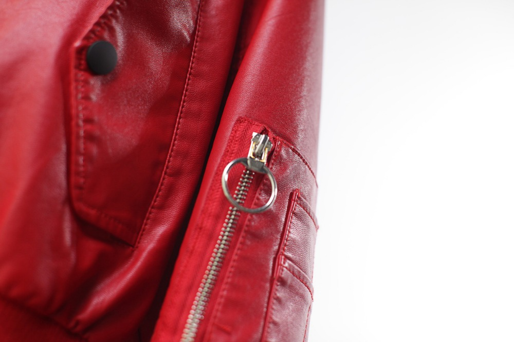 Loose Leather Jacket Women 2019 Fasion Winter Autumn Motorcycle Jacket Fashion Hooded Solid Women 39 s Coats Ladies Leather Jacket in Leather Jackets from Women 39 s Clothing