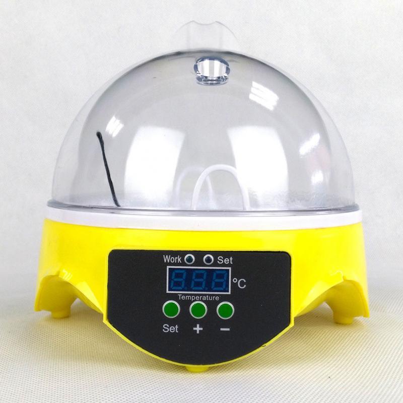 220V Mini 7 Eggs Automatic Turning Poultry Incubator Digital Temperature Control Pigeon Hatcher Chicken Duck Bird Pigeon Hatcher