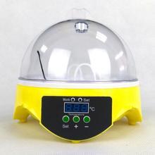 220V Mini 7 oeufs automatique tournant incubateur de volaille numérique contrôle de température éclosoir poulet canard oiseau éclosoir