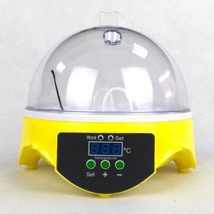 Image 1 - 220V Mini 7 uova rotazione automatica incubatrice per pollame controllo digitale della temperatura Hatcher pollo anatra uccello Hatcher