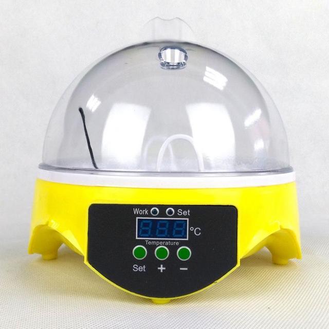 220V Mini 7 uova rotazione automatica incubatrice per pollame controllo digitale della temperatura Hatcher pollo anatra uccello Hatcher