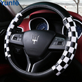 Steering wheel cover case for AUDI A1 A3 A4 A5 A7 steering DIY genuine leather sewing car steering cover car styling Anti-slip