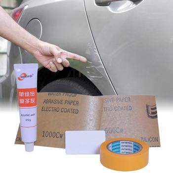 25g głębokość samochodu usuwanie zarysowań Putty zawieszenie związek polerowanie pasta szlifierska do pielęgnacji lakieru akcesoria samochodowe tanie i dobre opinie Farba folia ochronna LE01914 13cm Other Grease Scratch Repair Kit Goxfaca