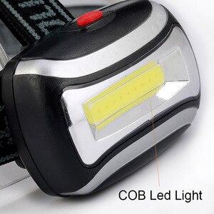 Image 2 - ZK20 Dropshopping Mini светодиодный налобный светильник COB 600 лм, налобный фонарь, фонарь с 3 батареями ААА, фонарь для кемпинга, походов, рыбалки
