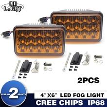 45W Led Fog Lamp for Lada Niva Jeep Toyota Opel Truck Work Light H4 Headlight High Low 3000K 9-32V Waterproof Car Front Light